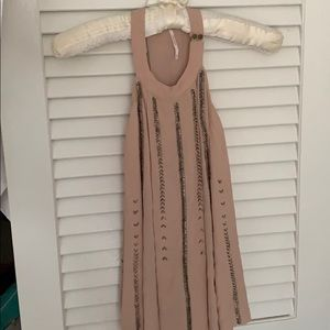 NWOT free people pink beaded tank top